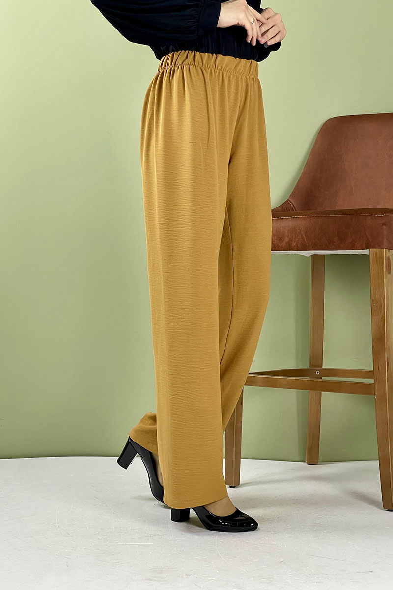 Aerobin Geniş Paça Pantolon Hardal