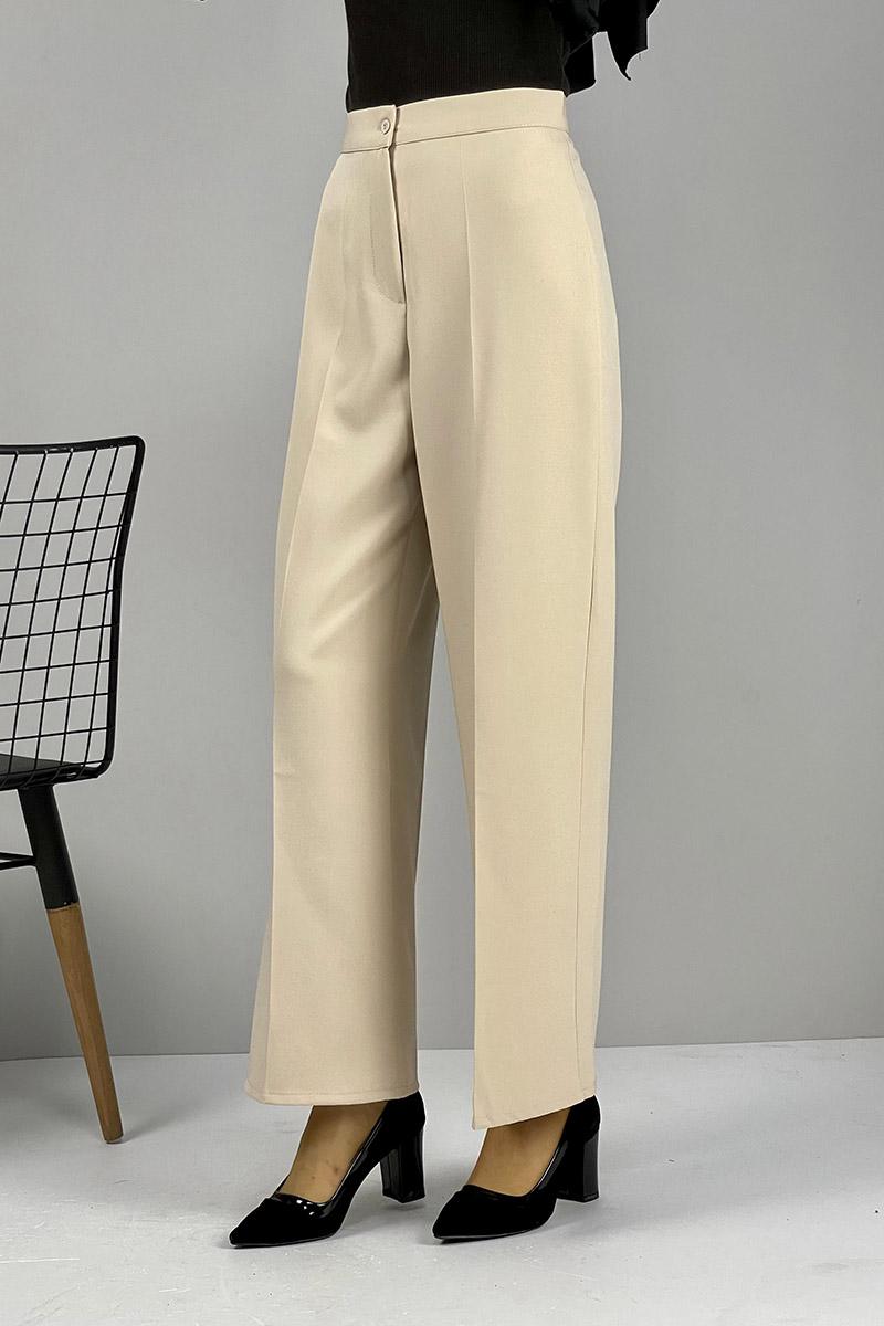Moda Pinhan - Bol Paça Pantolon Bej (1)