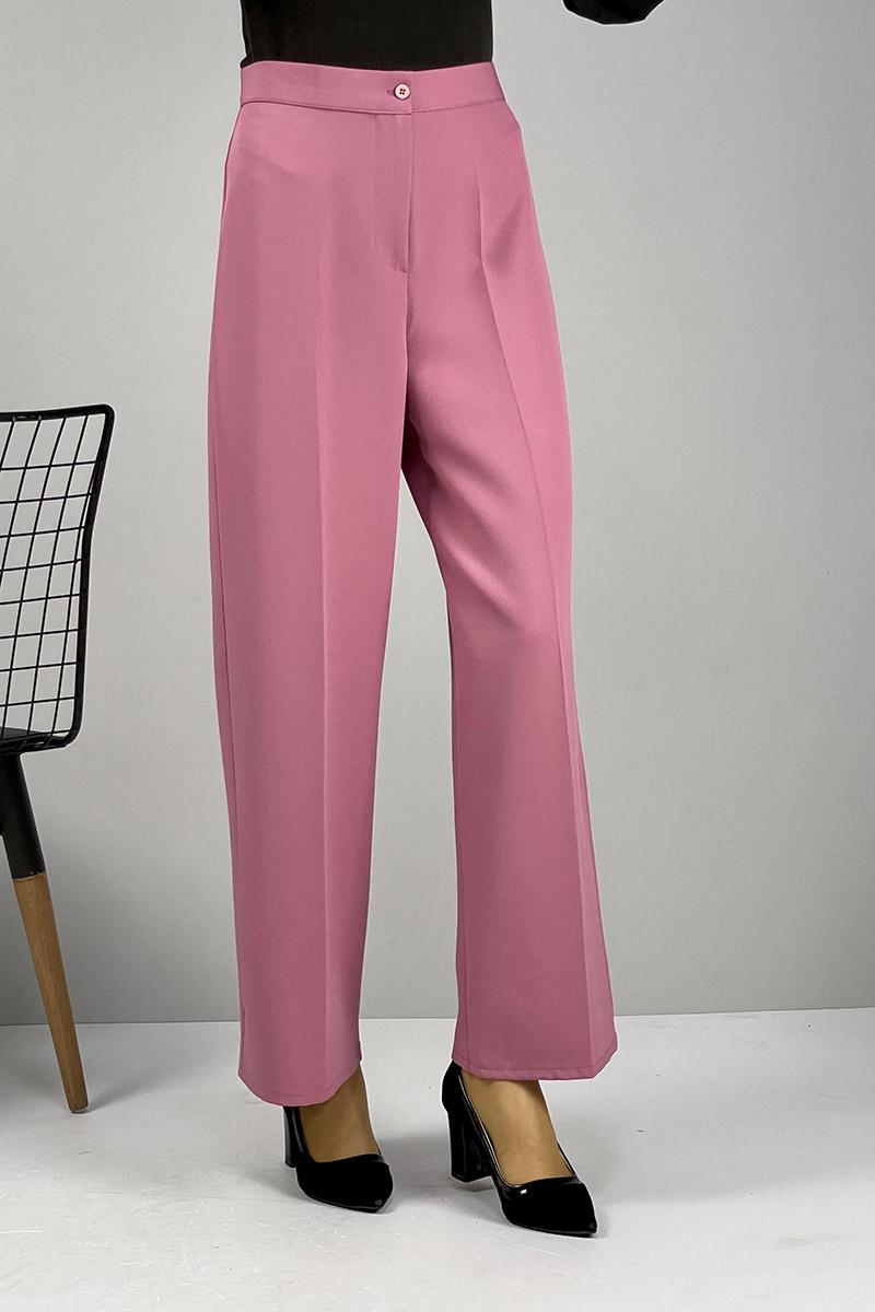 Moda Pinhan - Bol Paça Pantolon Gül Kurusu (1)