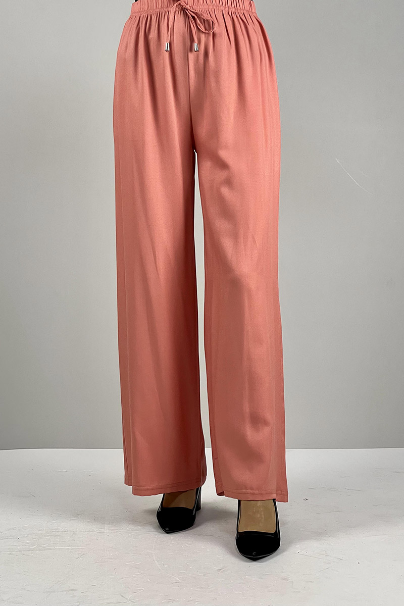 Moda Pinhan - Bol Paça Pantolon Somon (1)