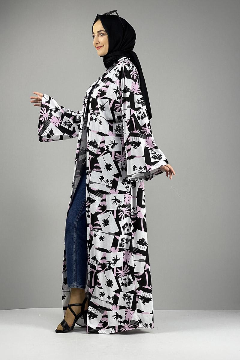 Desenli Kimono Siyah Gül Kurusu - Thumbnail