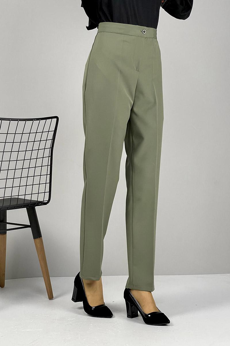 Moda Pinhan - Düz Paça Pantolon Haki (1)