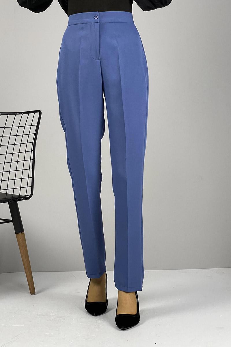 Moda Pinhan - Düz Paça Pantolon İndigo (1)