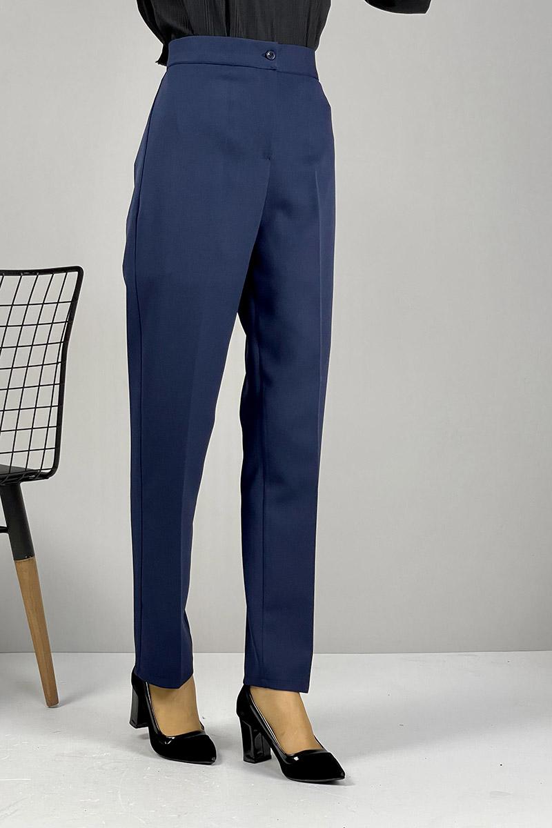 Moda Pinhan - Düz Paça Pantolon Lacivert (1)