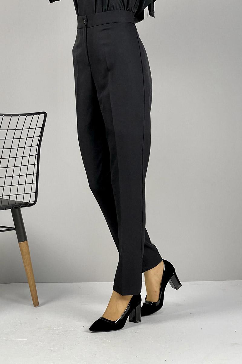 Moda Pinhan - Düz Paça Pantolon Siyah (1)