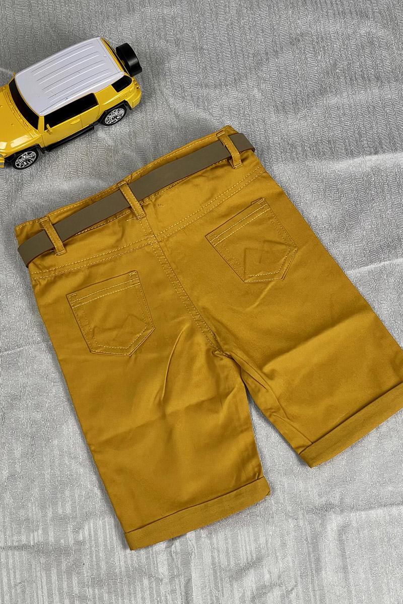 Moda Pinhan - Erkek Çocuk Şort Hardal (1)