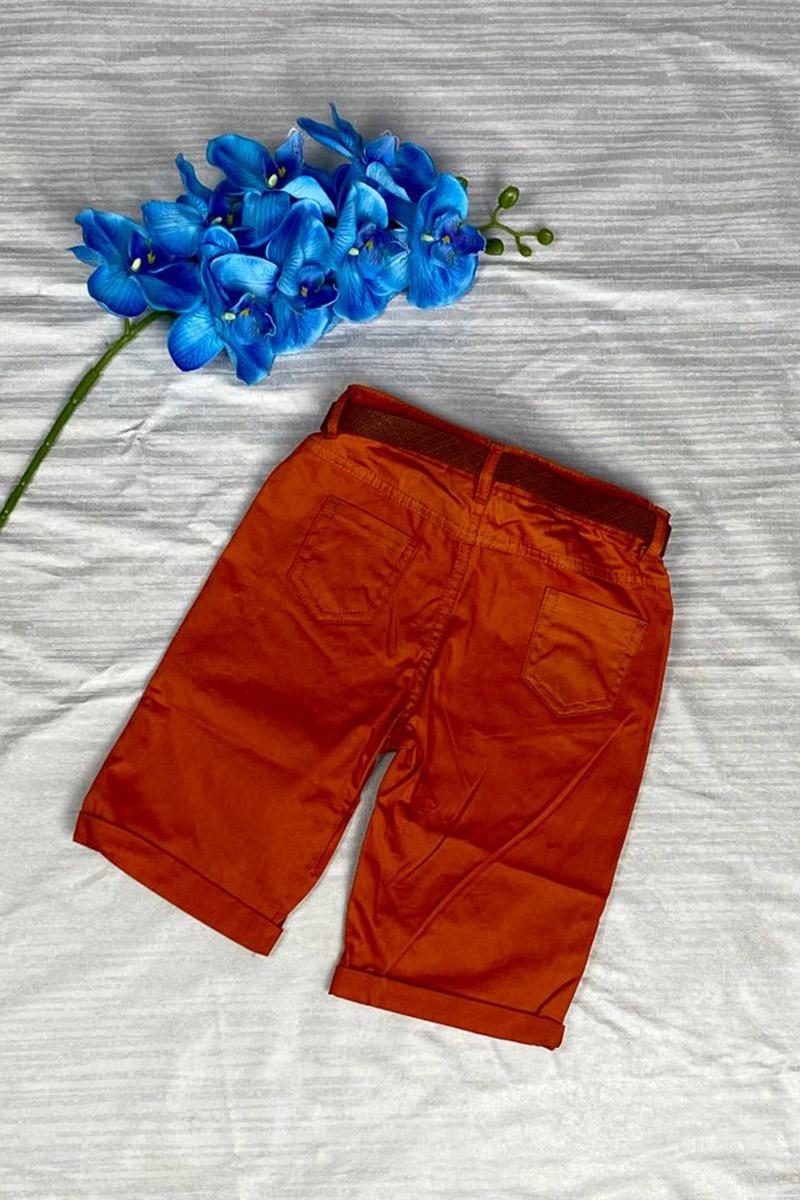 Moda Pinhan - Erkek Çocuk Şort Kiremit (1)