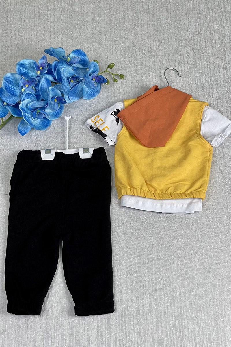 Moda Pinhan - Erkek Çocuk Üçlü Takım Sarı (1)