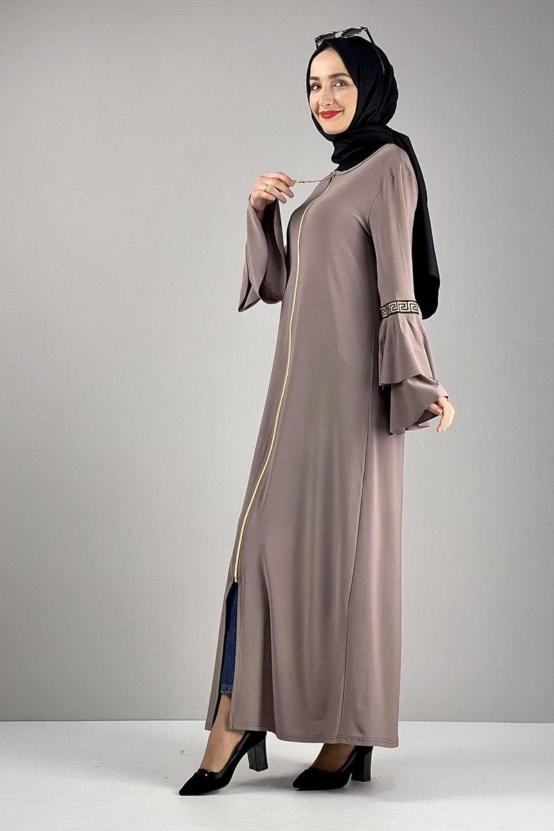 Moda Pinhan - Fermuarlı Ferace Sandy Vizon (1)