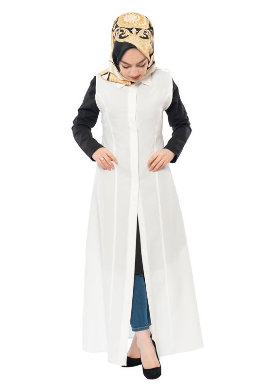 Moda Pinhan - Gömlek Yakalı Yelek Ekru (1)