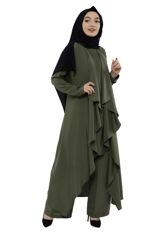 Moda Pinhan - Hırkalı 3 Lü Kombin Haki (1)
