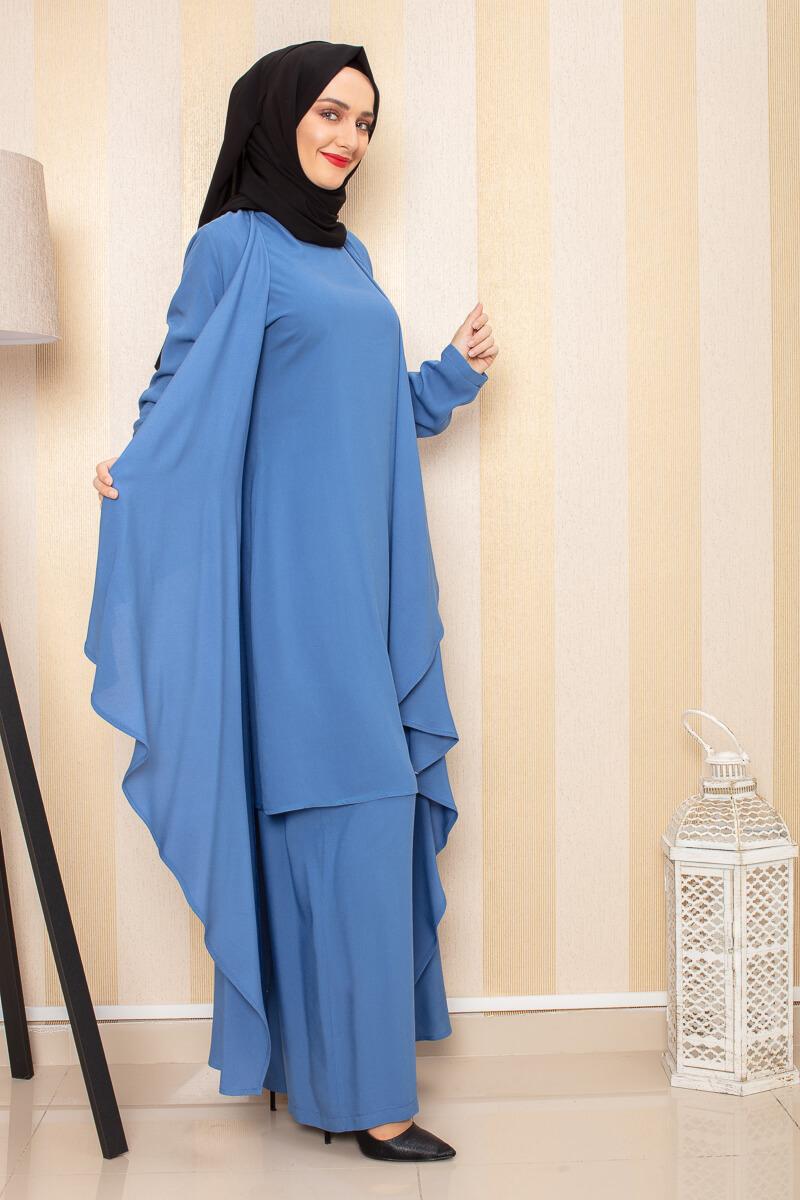 Moda Pinhan - Hırkalı 3 Lü Kombin İndigo (1)
