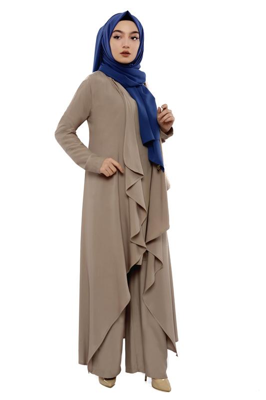 Moda Pinhan - Hırkalı 3 Lü Kombin Vizon (1)