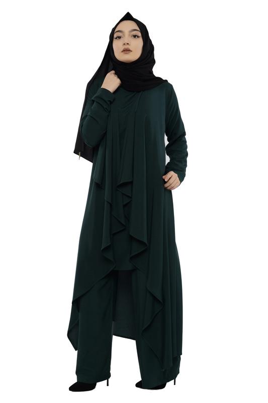Moda Pinhan - Hırkalı 3 Lü Kombin Zümrüt (1)