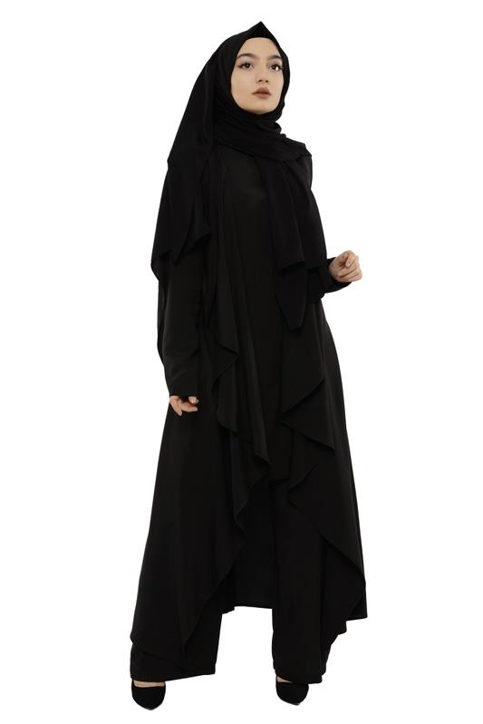 Moda Pinhan - Hırkalı 3 Lü Kombin Siyah (1)