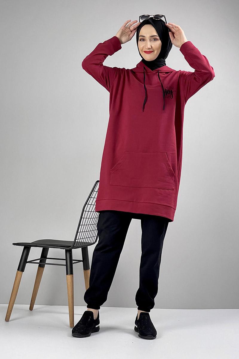 Moda Pinhan - İkili Eşofman Takımı Bordo (1)