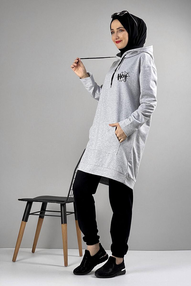 Moda Pinhan - İkili Eşofman Takımı Gri (1)