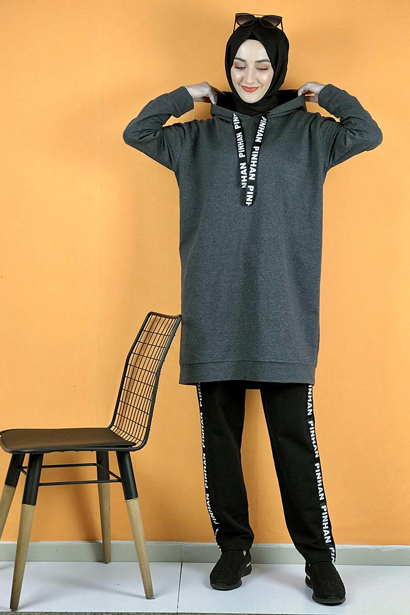 Moda Pinhan - İkili Eşofman Takım Antrasit (1)