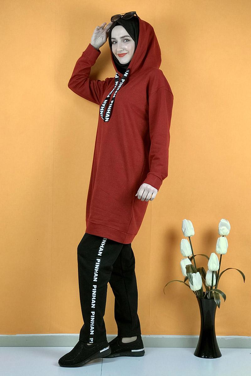 Moda Pinhan - İkili Eşofman Takım Bordo (1)