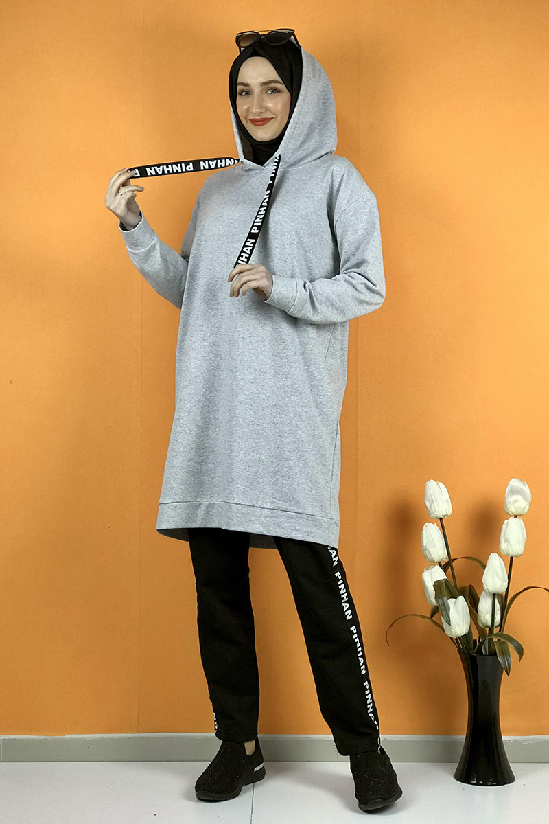 Moda Pinhan - İkili Eşofman Takım Gri (1)