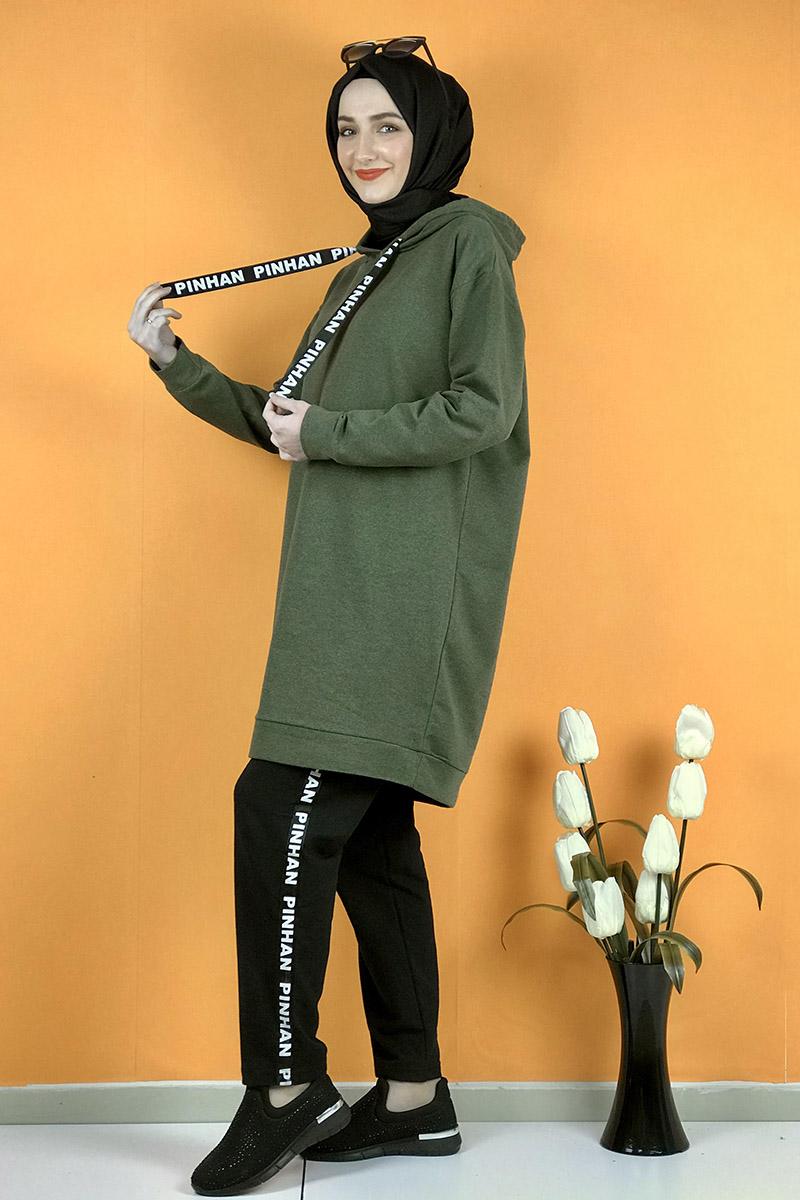 Moda Pinhan - İkili Eşofman Takım Haki (1)
