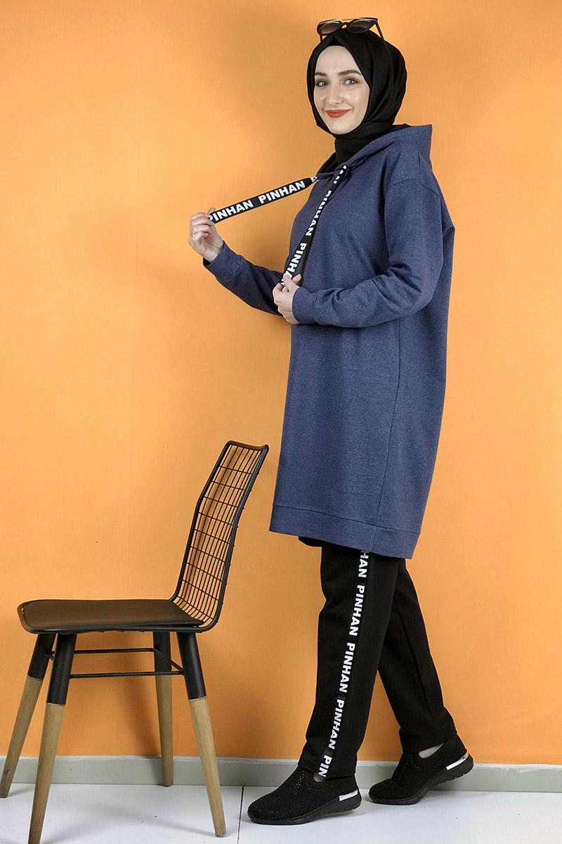Moda Pinhan - İkili Eşofman Takım İndigo (1)