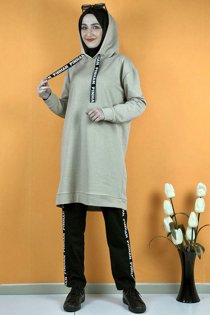 Moda Pinhan - İkili Eşofman Takım Taş (1)