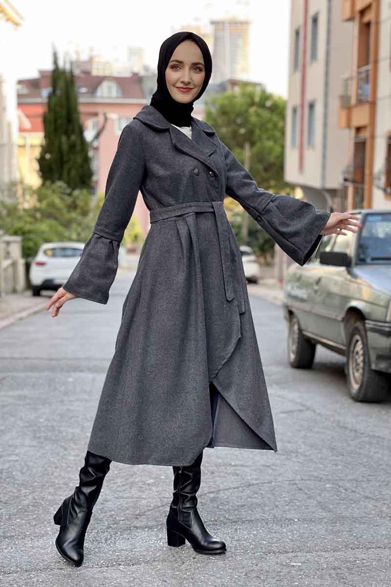 Moda Pinhan - Kaşe Kaban Antrasit (1)