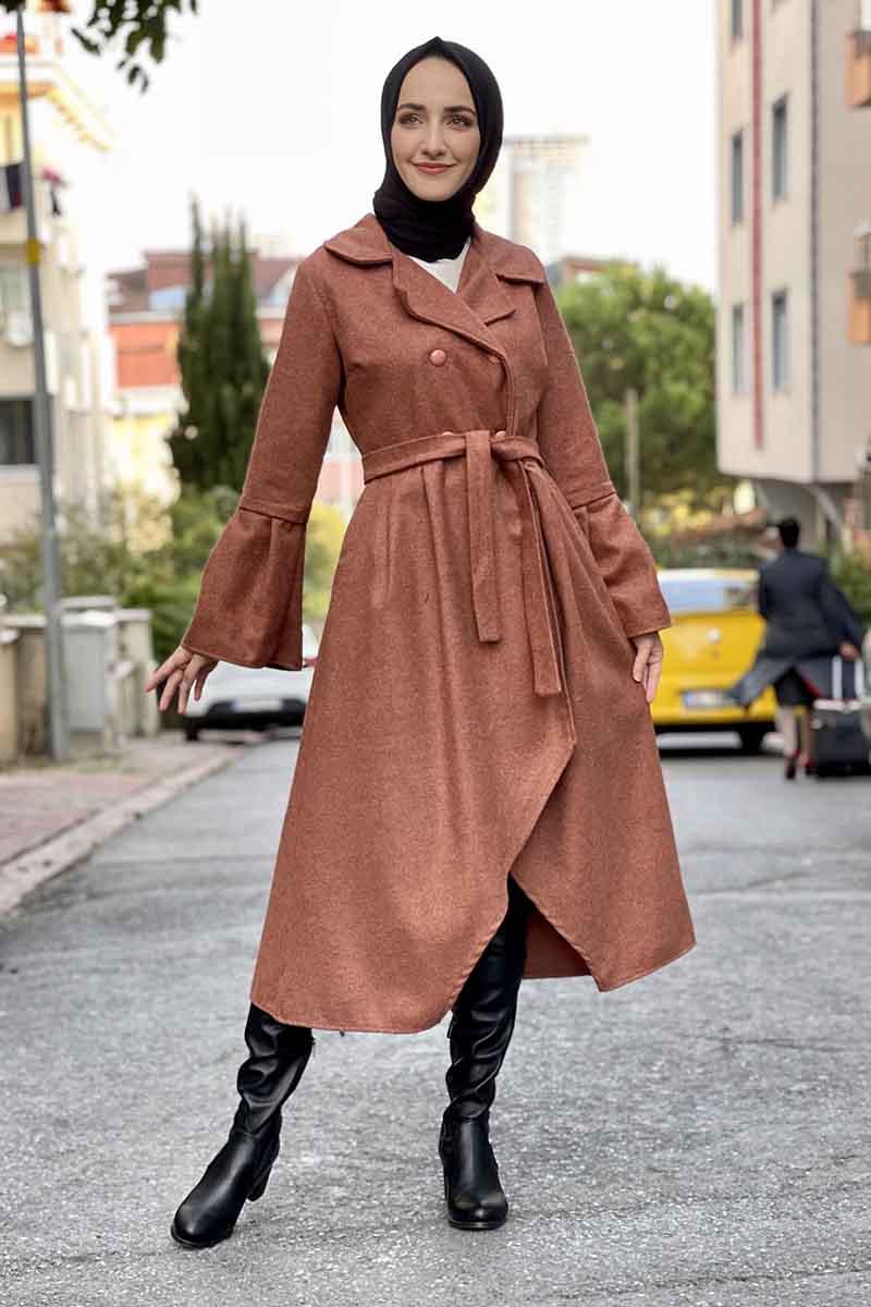 Moda Pinhan - Kaşe Kaban Taba (1)