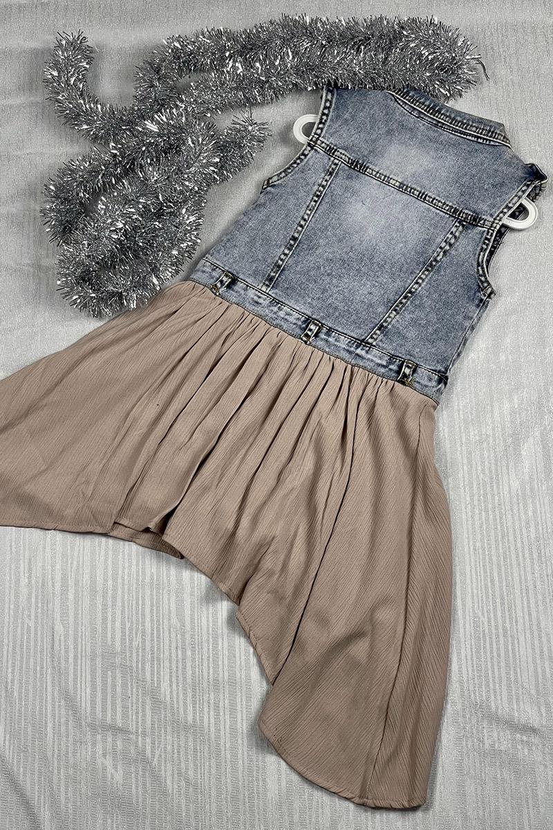 Moda Pinhan - Kız Çocuk Elbise Kot (1)