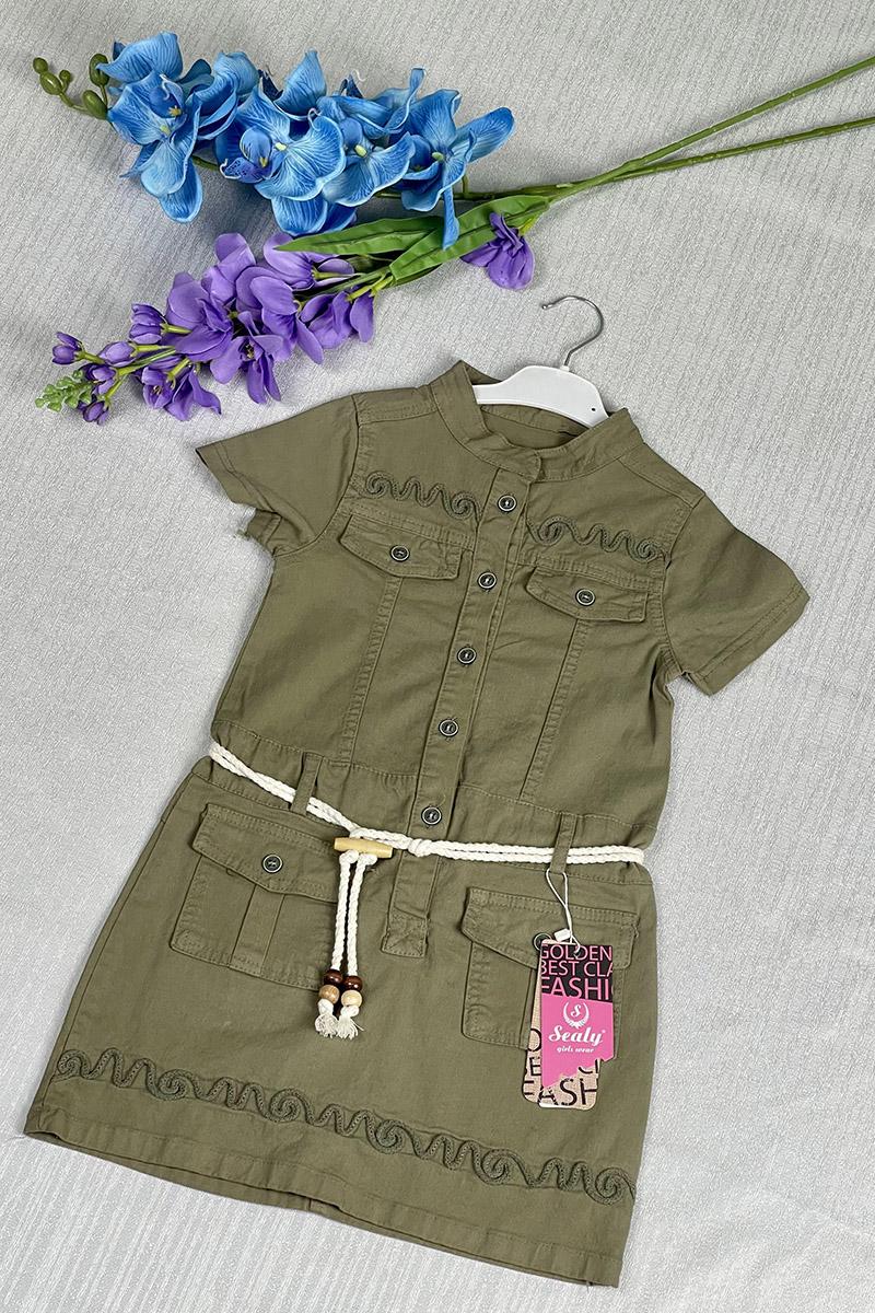 Kız Çocuk Elbise Yeşil - Thumbnail