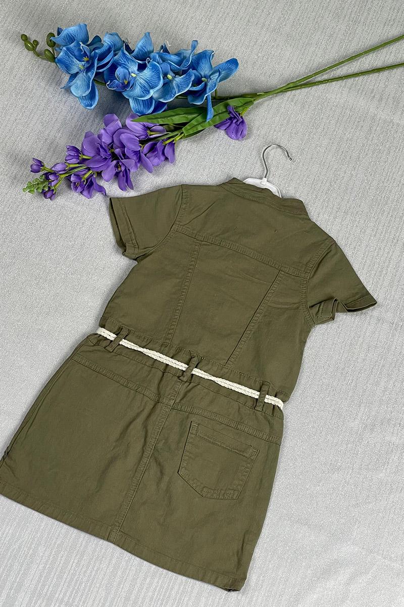 Moda Pinhan - Kız Çocuk Elbise Yeşil (1)