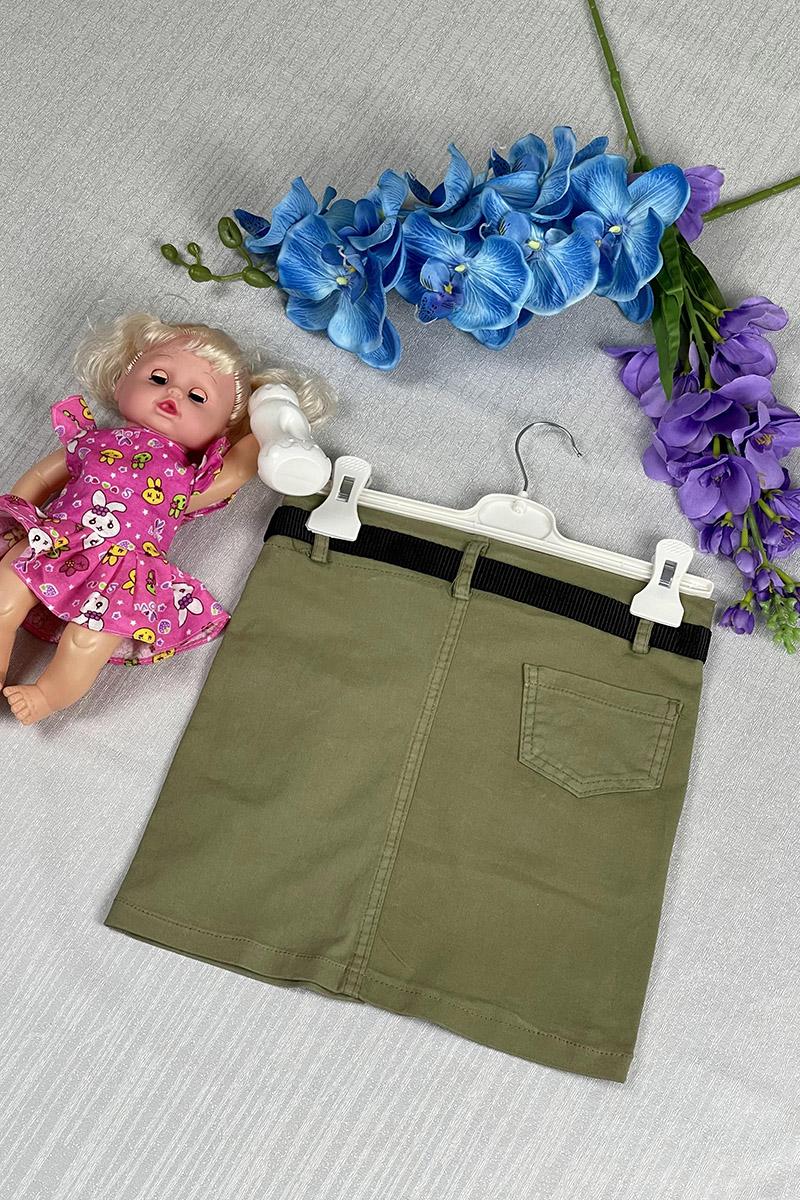 Moda Pinhan - Kız Çocuk Etek Haki (1)