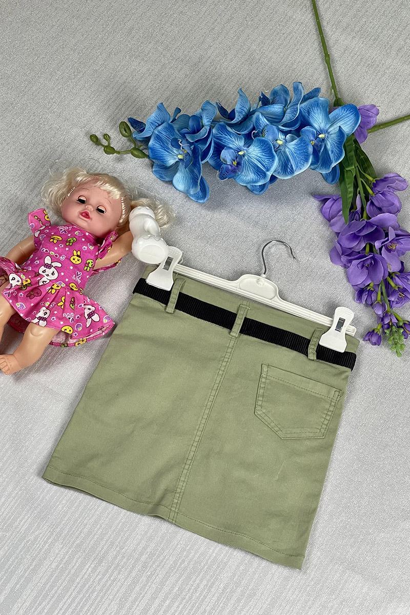 Moda Pinhan - Kız Çocuk Etek Yeşil (1)