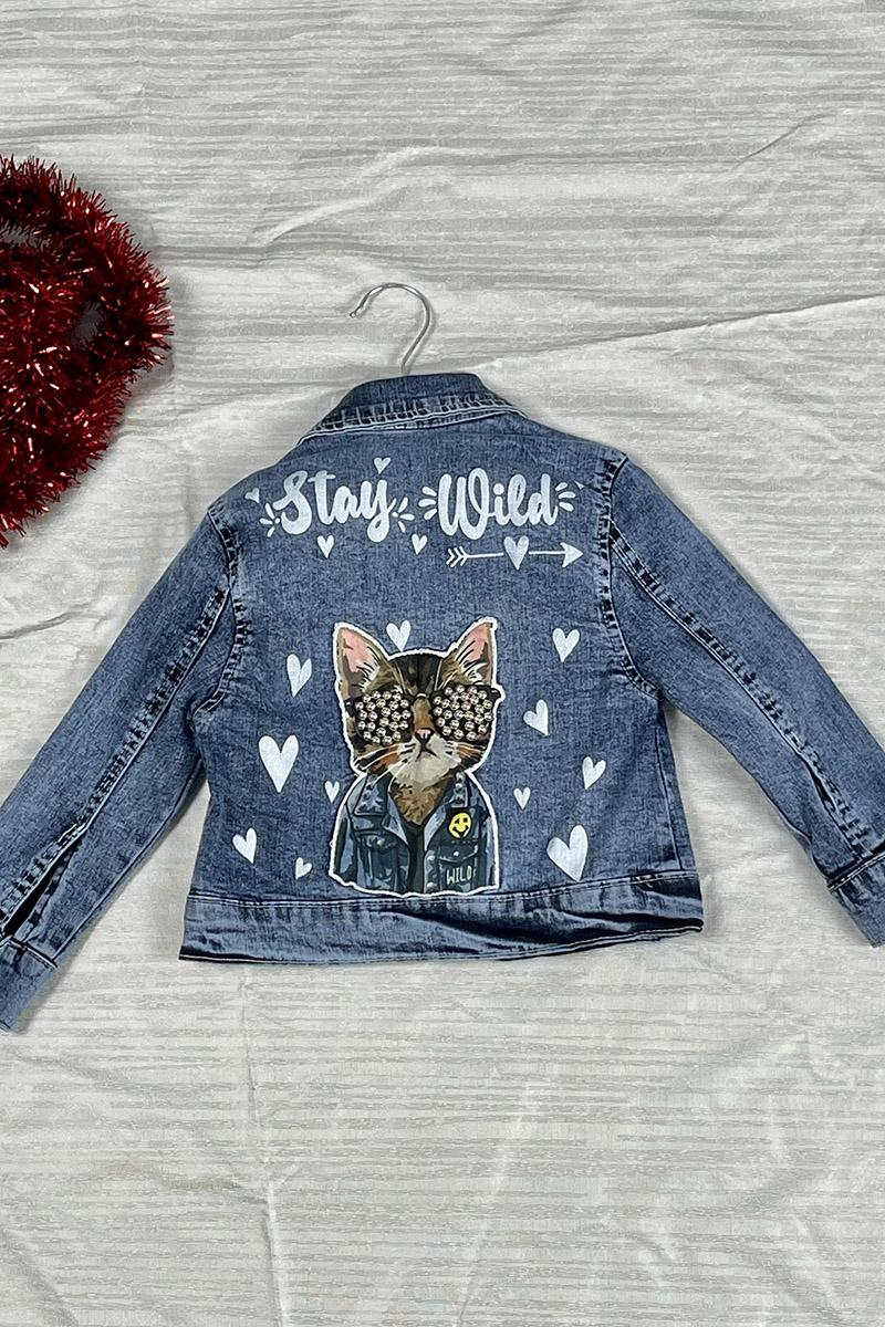 Kız Çocuk Kot Ceket