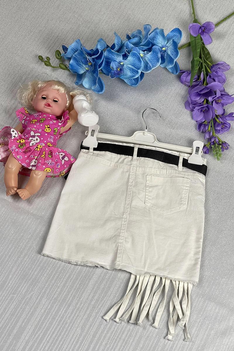Moda Pinhan - Kız Çocuk Kot Etek Bej (1)