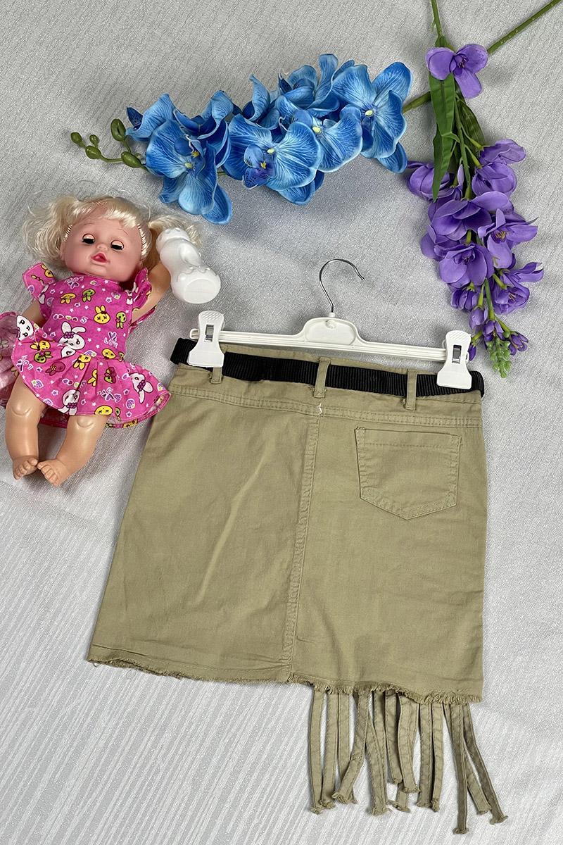 Moda Pinhan - Kız Çocuk Kot Etek Haki (1)
