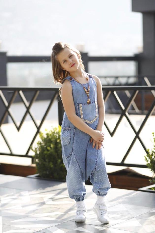 Moda Pinhan - Kız Çocuk Kot Şalvar (1)