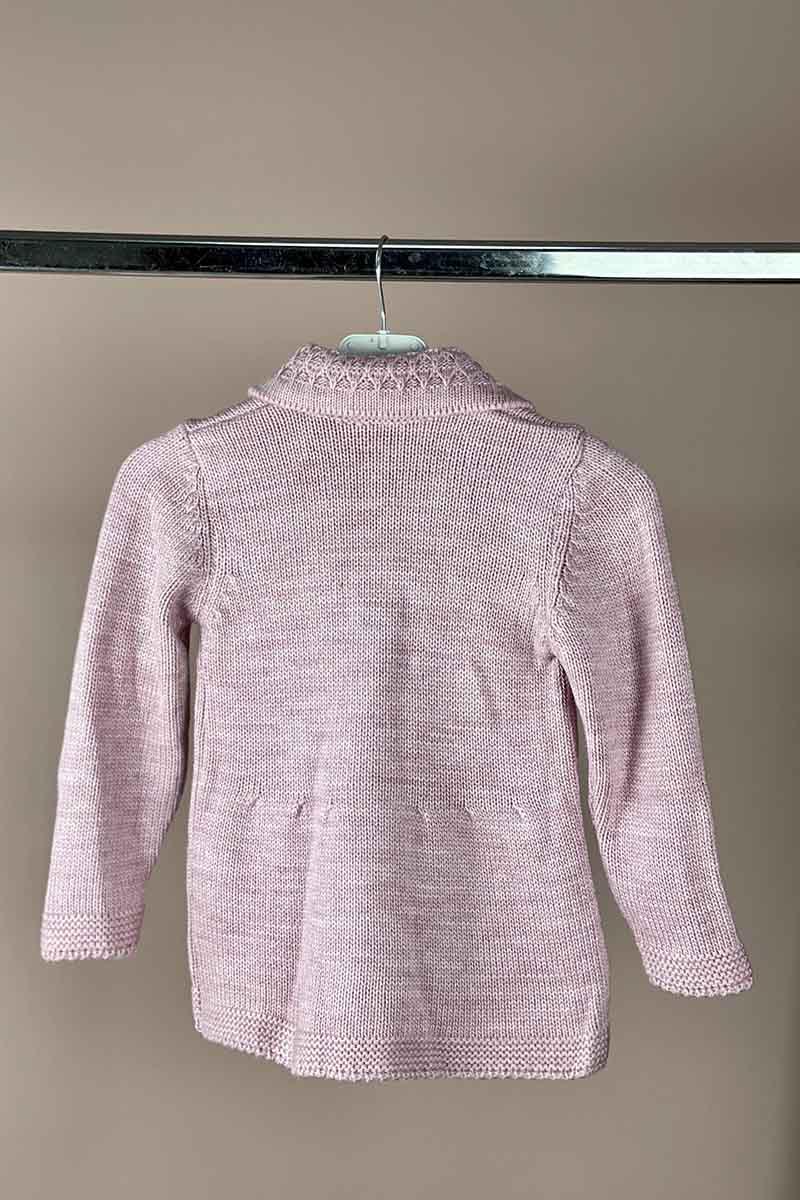 Moda Pinhan - Kız Çocuk Triko Hırka Gül Kurusu (1)
