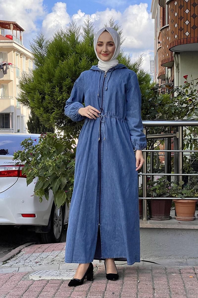 Moda Pinhan - Kot Ferace Açık Mavi (1)