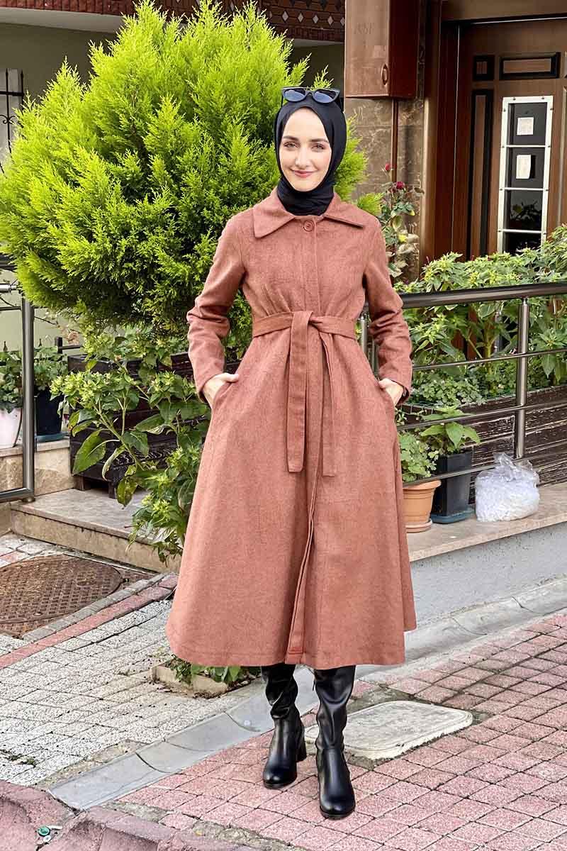 Moda Pinhan - Mevlana Kaşe Kaban Kiremit (1)