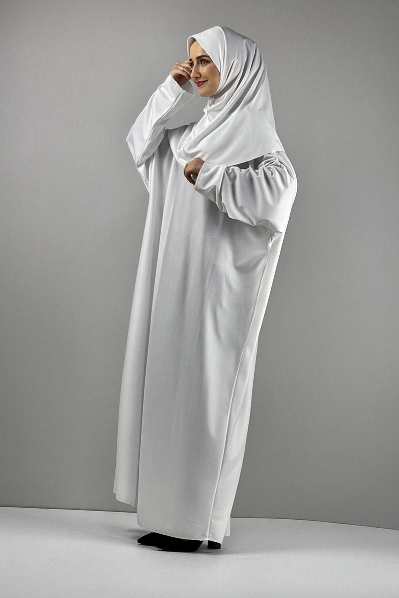 Moda Pinhan - Namaz Elbisesi Beyaz (1)