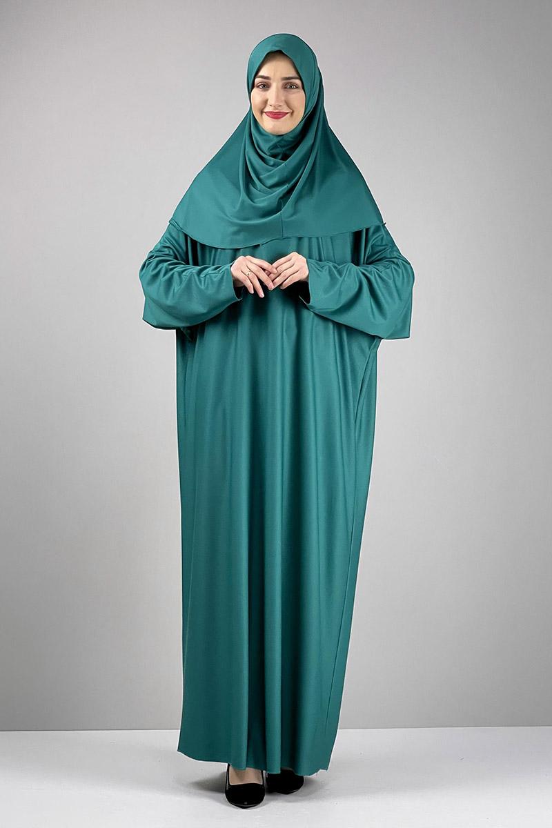 Moda Pinhan - Namaz Elbisesi Yeşil (1)