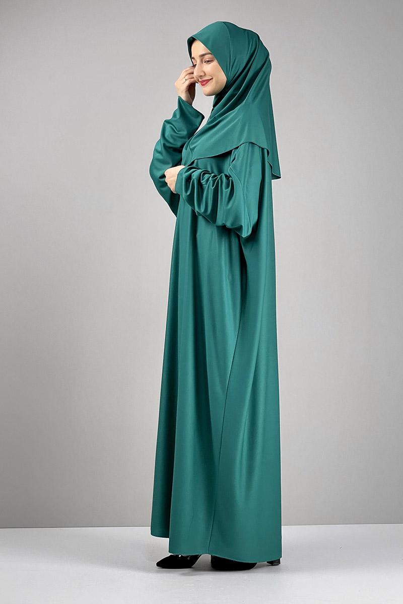 Namaz Elbisesi Yeşil - Thumbnail