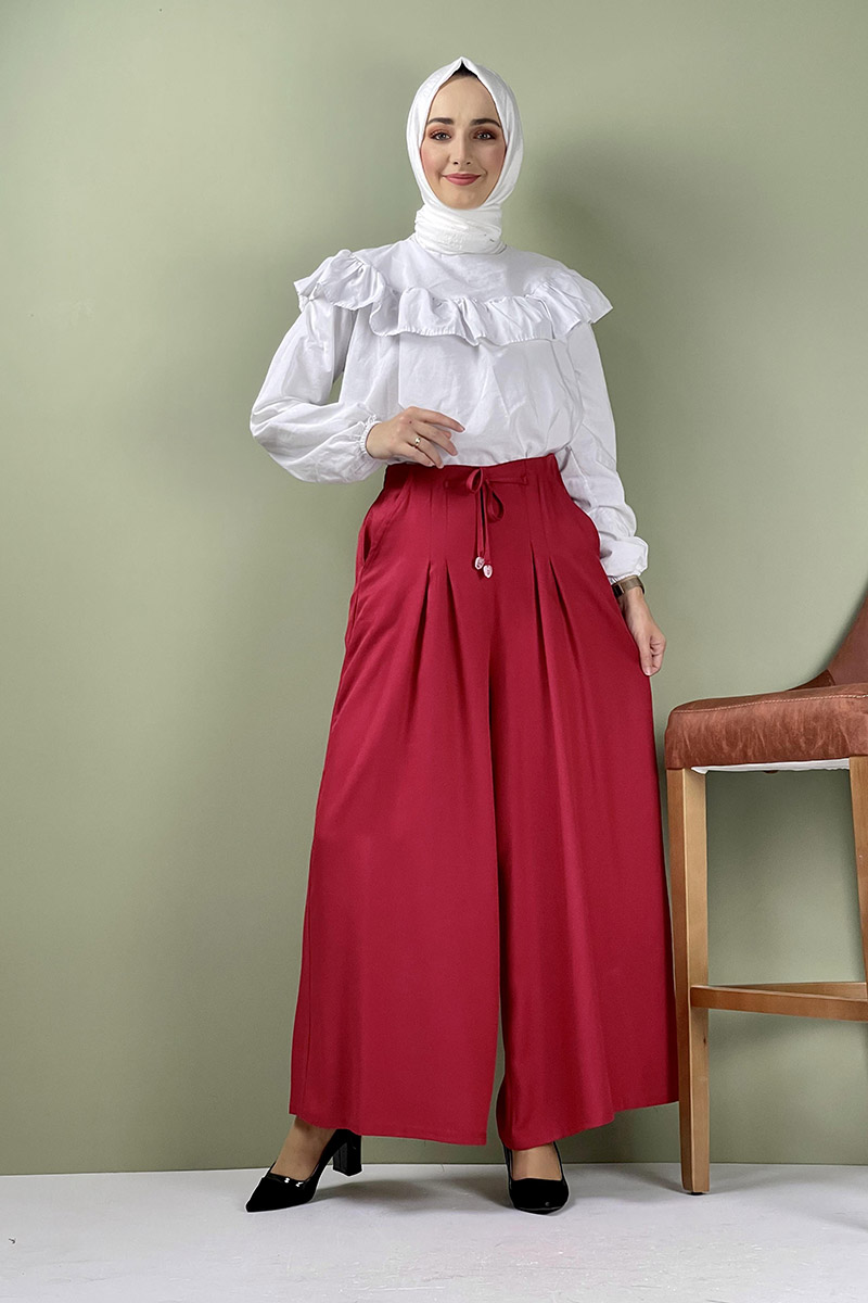 Moda Pinhan - Pantolon Etek Bordo (1)