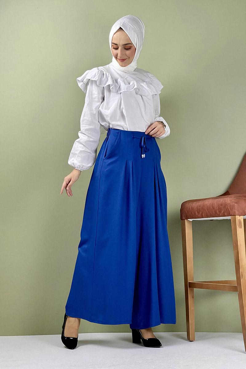 Moda Pinhan - Pantolon Etek İndigo (1)