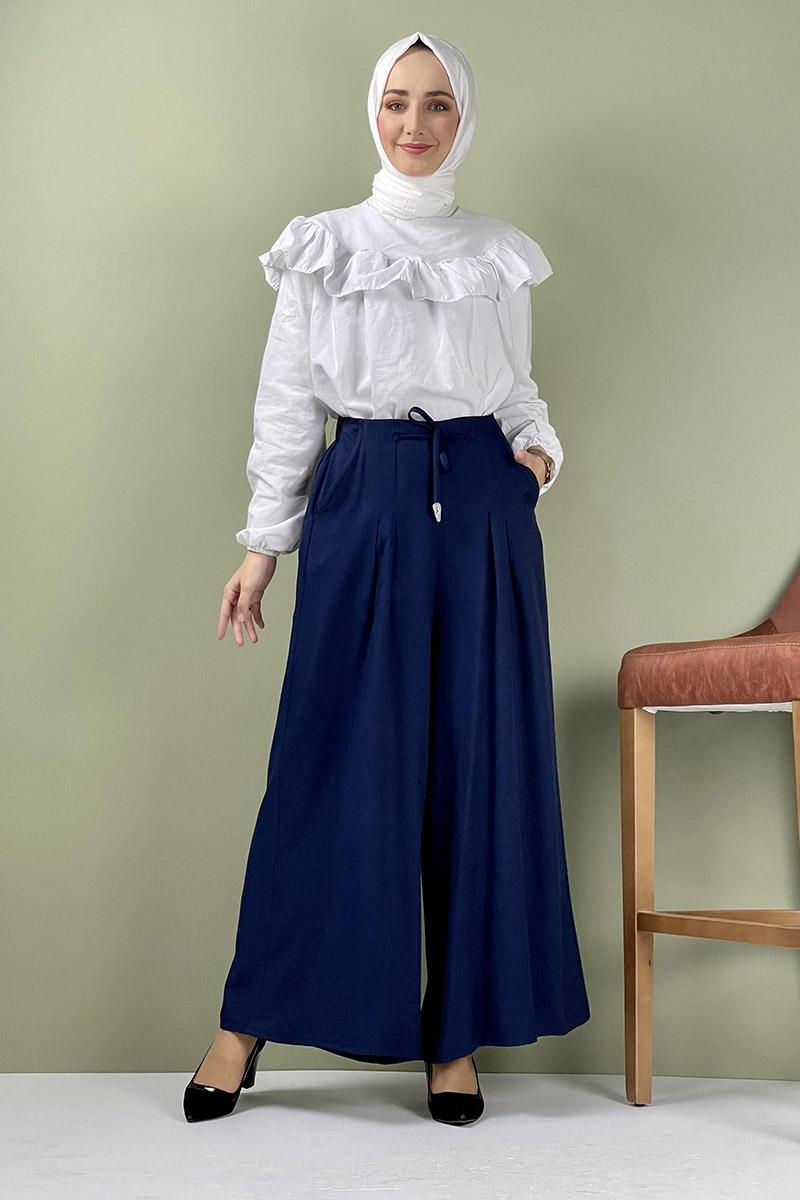 Moda Pinhan - Pantolon Etek Lacivert (1)