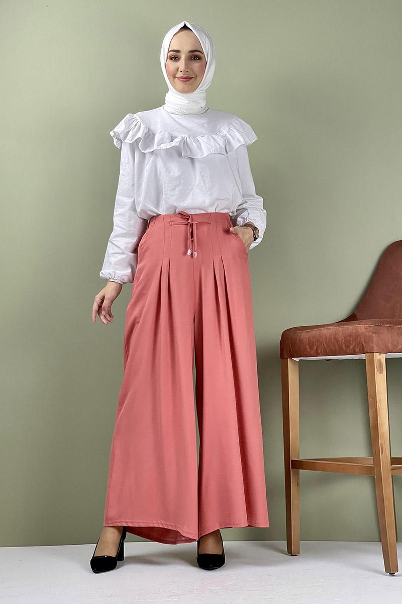 Moda Pinhan - Pantolon Etek Somon (1)
