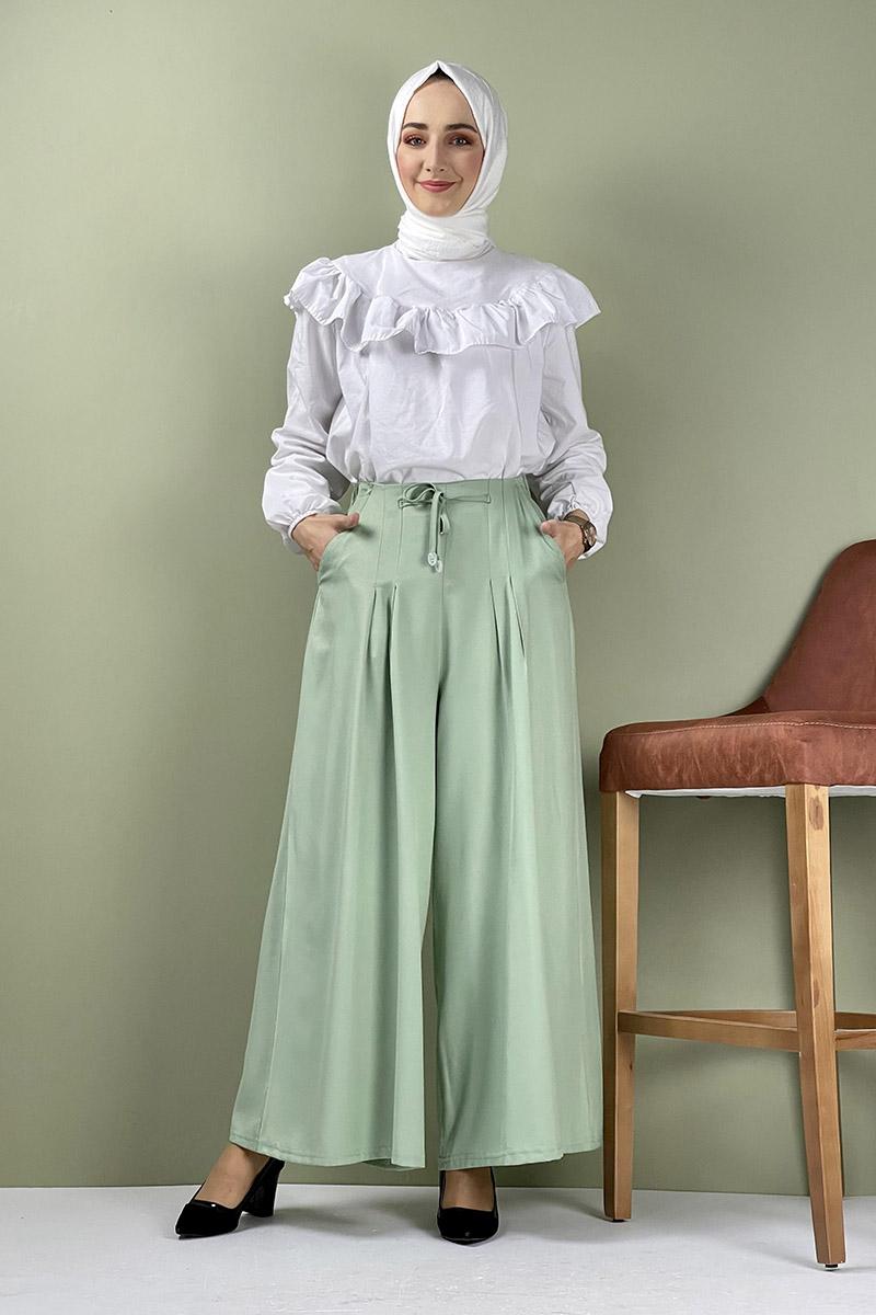 Moda Pinhan - Pantolon Etek Yeşil (1)