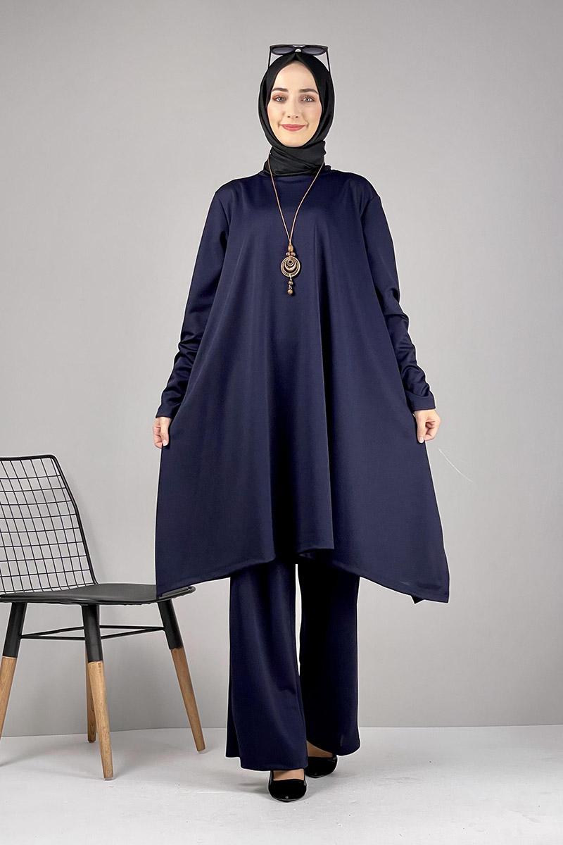 Moda Pinhan - Salaş Tesettür Takım Lacivert (1)
